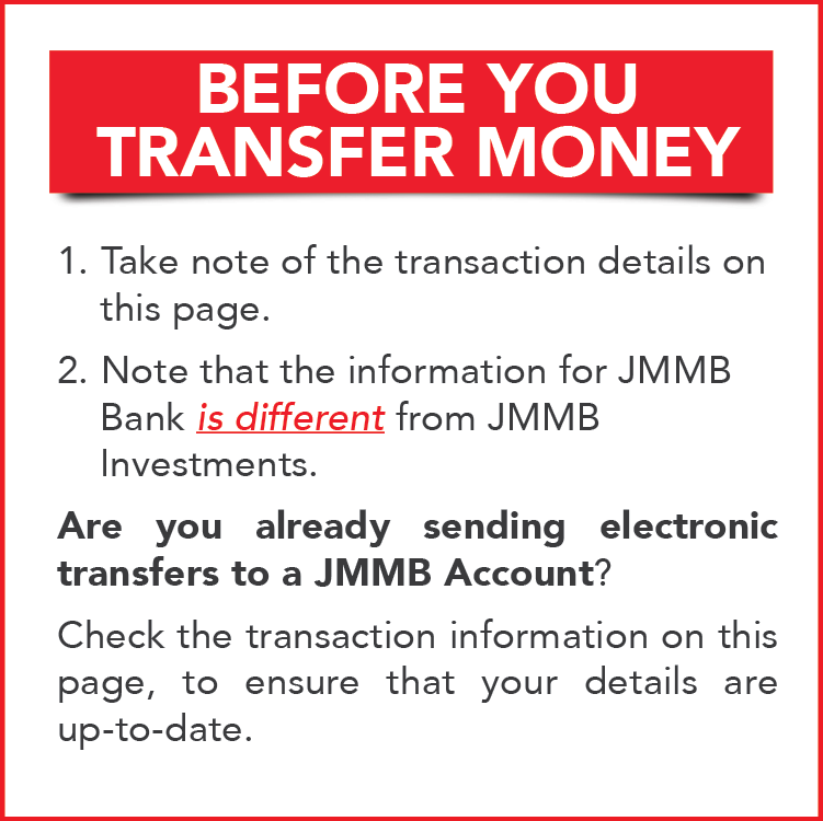 Electronic Transfers | JMMB on